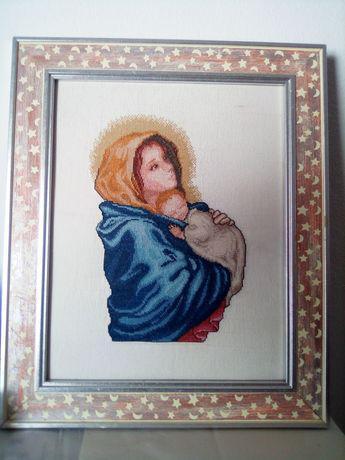 Bordado virgem e o menino