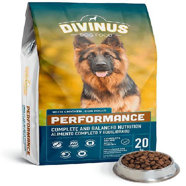 Ração performance p/ cão adulto (20kg) - divinus