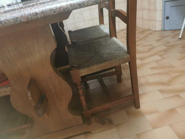 Mesa com tampo pedra marmore