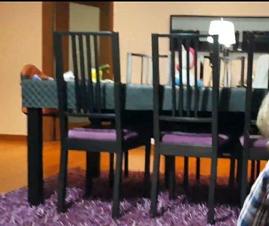 Mesa extensível ikea com 6 cadeiras
