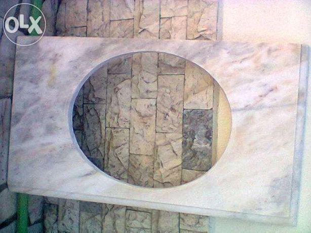 Pedra mármore para lavatório wc