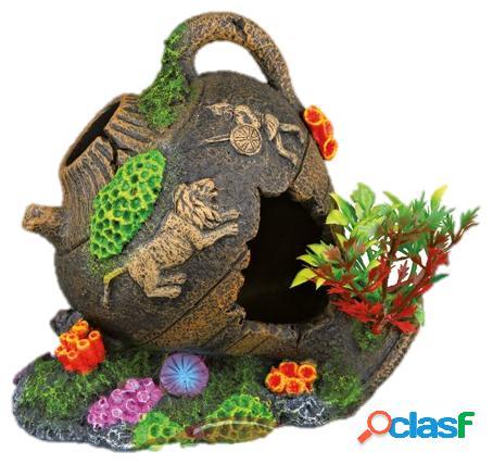 Decorativas para aquario pote em poliresina 12 cm trixie