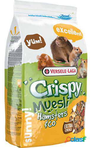Hamster crocante de muesli e cobaias 1 kg versele laga