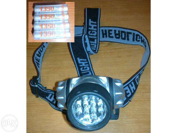 Lanterna desporto de cabeça 12 leds à prova àgua (4