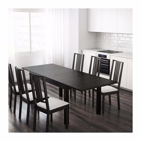 Mesa extensível ikea bjursta + 6 cadeiras