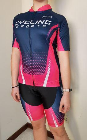 Roupa de ciclismo para mulher