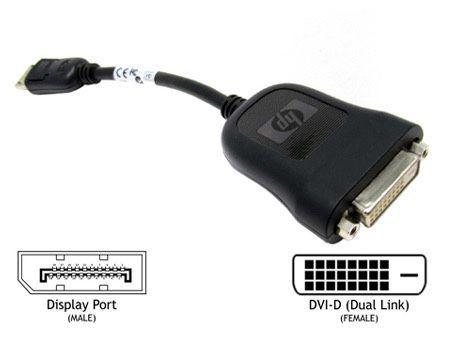 Adaptador hp display port para dvi-d
