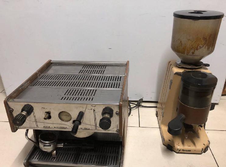 Máquina café spaziale + moinho industrial