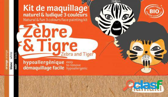 Namaki kit de maquilhagem zebra e tigre 3 x 2,5 gr