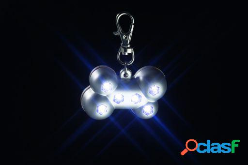 Prata de osso blinki com 6 luzes LEDs 5 X 3 X 2 cm Karlie Flamingo
