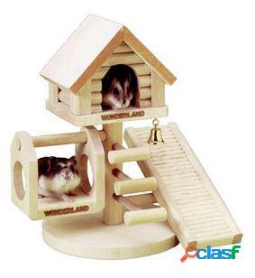 Casa na árvore maravilhas para hamster 21 x 22 x 16 cm karlie flamingo