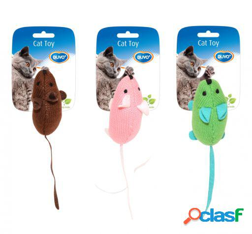 Cat toy assorted colors mice 9.5 x 4 x 6 cm duvo+