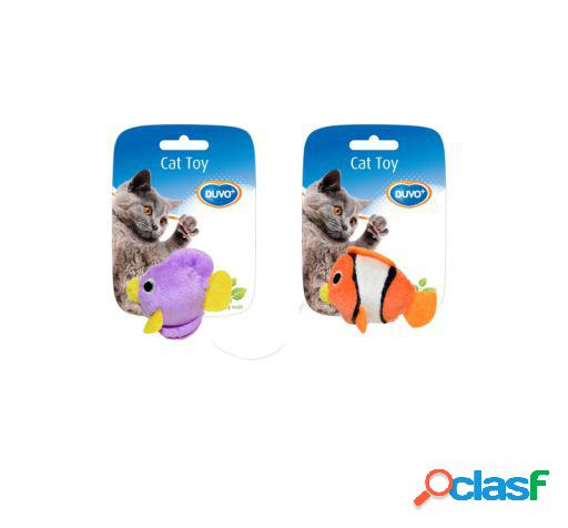 Fish cat toy assortment 2 uni. 9 x 7.5 x 3.5 cm duvo+