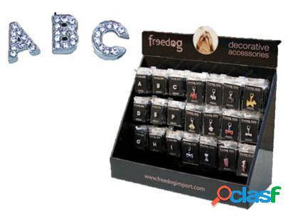 2xs freedog colar carta de brilhante para seus animais de estimação