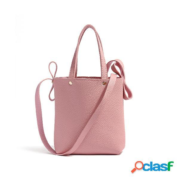 Bolsa de pu liso macia rosa