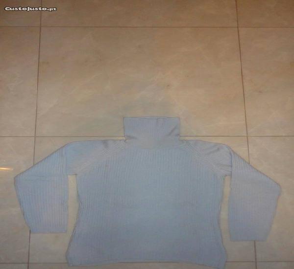 Camisola de senhora de lã azul bebé for guest