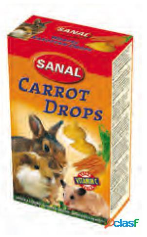 Snacks roedores drops cenoura sanal