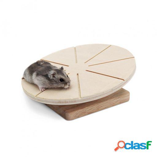 Disco de madeira para hamster living world