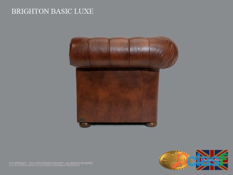 Poltrona Chesterfield Brighton Basic Luxe, Couro, Marrom Antigo 2