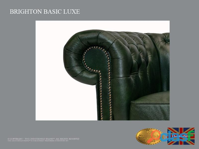 Poltrona Chesterfield Brighton Basic Luxe, Couro, Verde Escuro 2