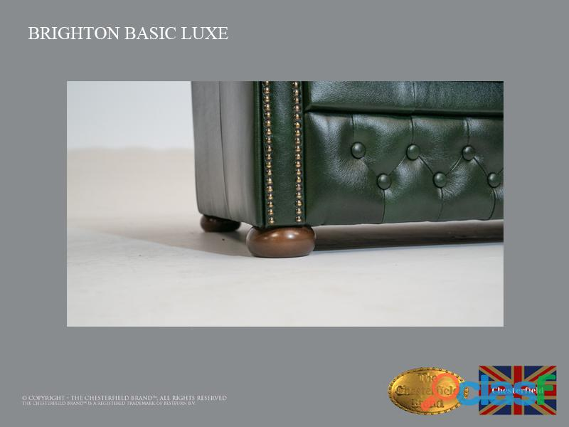 Poltrona Chesterfield Brighton Basic Luxe, Couro, Verde Escuro 3