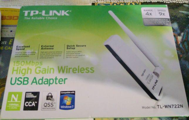 High gain wireless usb adaptador