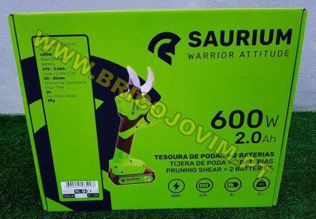 Tesoura poda elétrica - 2 baterias lithium 2ah - 600wts -