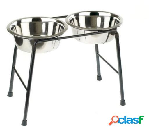 High stand/ 2x900ml dish 900 ml classic for pets