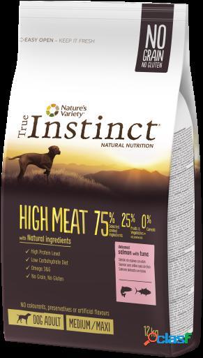 High meat medium/maxi salmao desossado com atum 12 kg true instinct