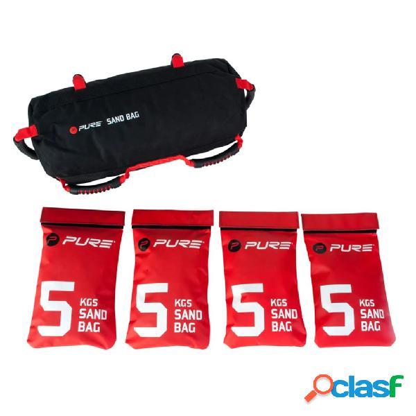 Pure2improve saco de treino búlgaro c/ sacos de areia 20 kg p2i200500