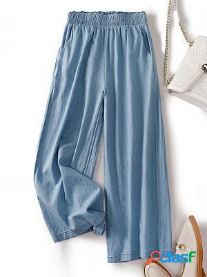 High waist jeans loose pants