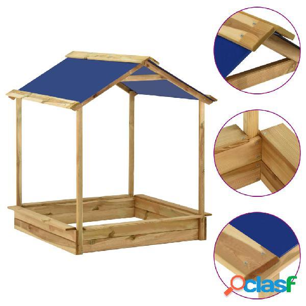 Vidaxl casa de brincar p/ exterior c/ caixa areia 123x120x145 cm pinho