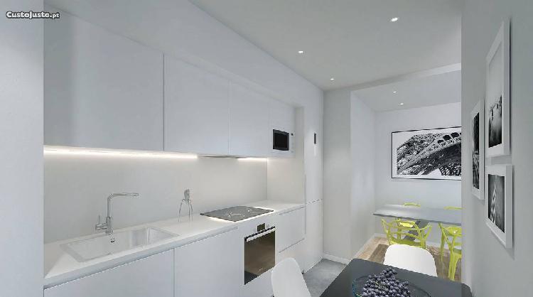 Apartamento novo t2 c/ terraço - paranhos