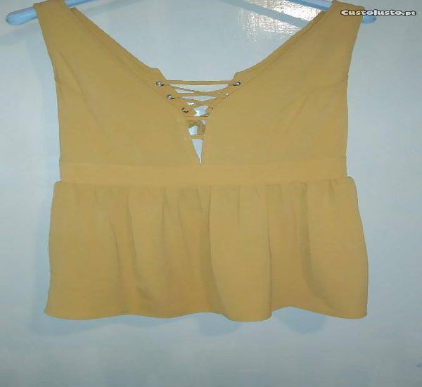 Top amarelo (tamanho: m)