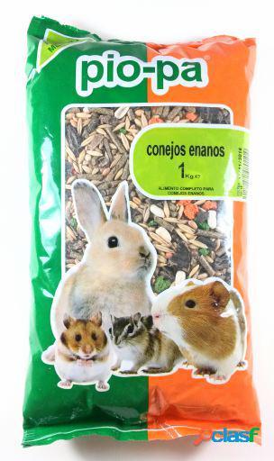 Alimentação completa e equilibrada para coelhos anões 1 kg pio-pa