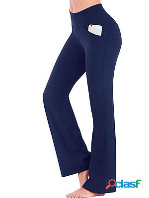 Fashion high waist casual wide leg pants