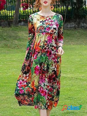 Fashion high waist loose straight dress