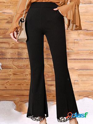 Fashion high waist simple pure color gold velvet plus velvet flared pants