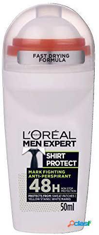 L'oreal paris roll on men expert shirt protect desodorante 48h