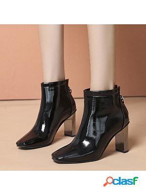 Women's fashion square toe boots