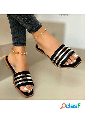 New comfortable flat cutout slippers