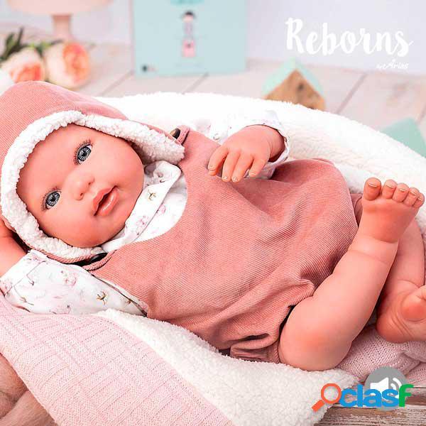 Boneca gael reborn com cobertor 45cm