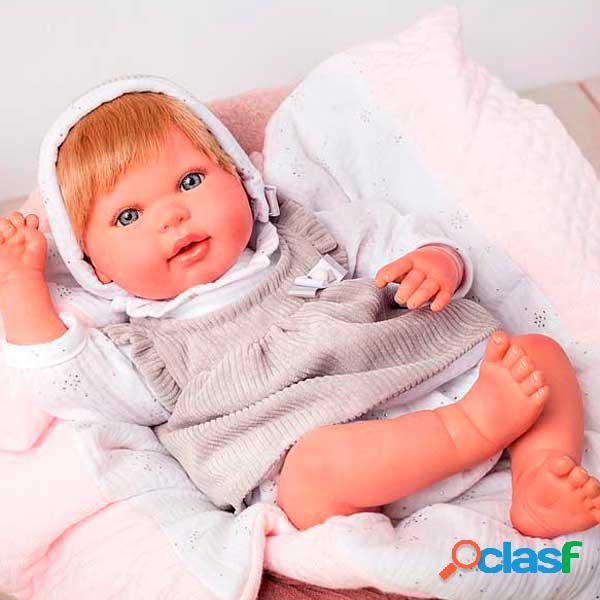 Boneca reborn emma com manta 45cm