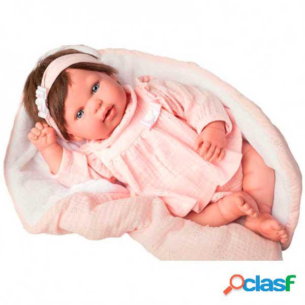 Boneca reborn valentina com cobertor 45cm