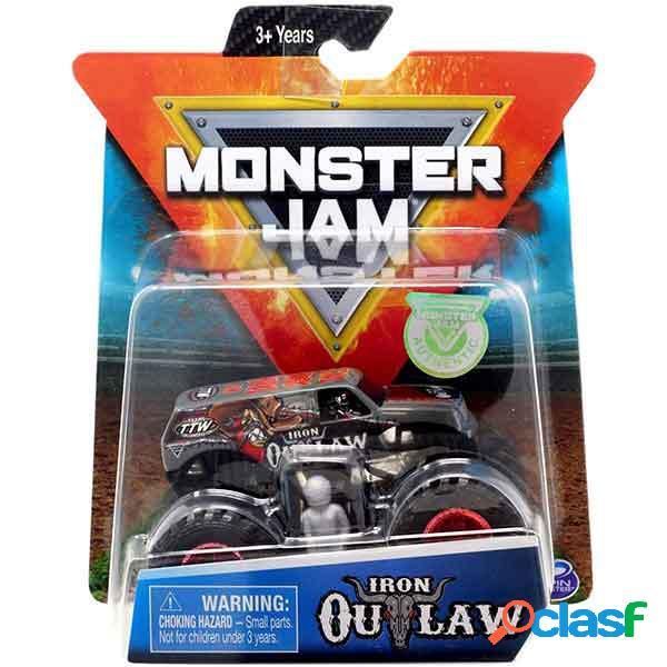Monster jam basic iron outlaw 1:64