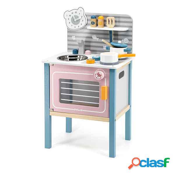Pequena cozinha infantil madeira polarb