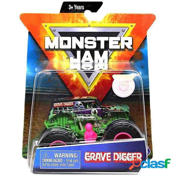 Monster jam basic grave digger rosa 1:64