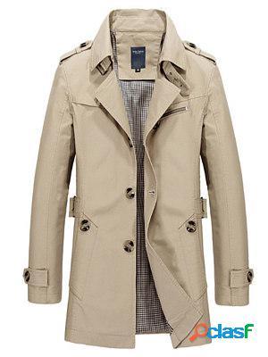 Mens new mid-length windbreaker jacket