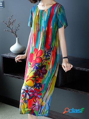 Summer Fashion Printed Straight Dress