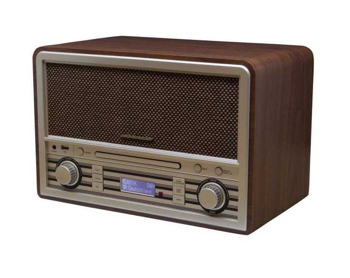 Rádio de Mesa Retro NR955BR 8W Bluetooth (Castanho) -